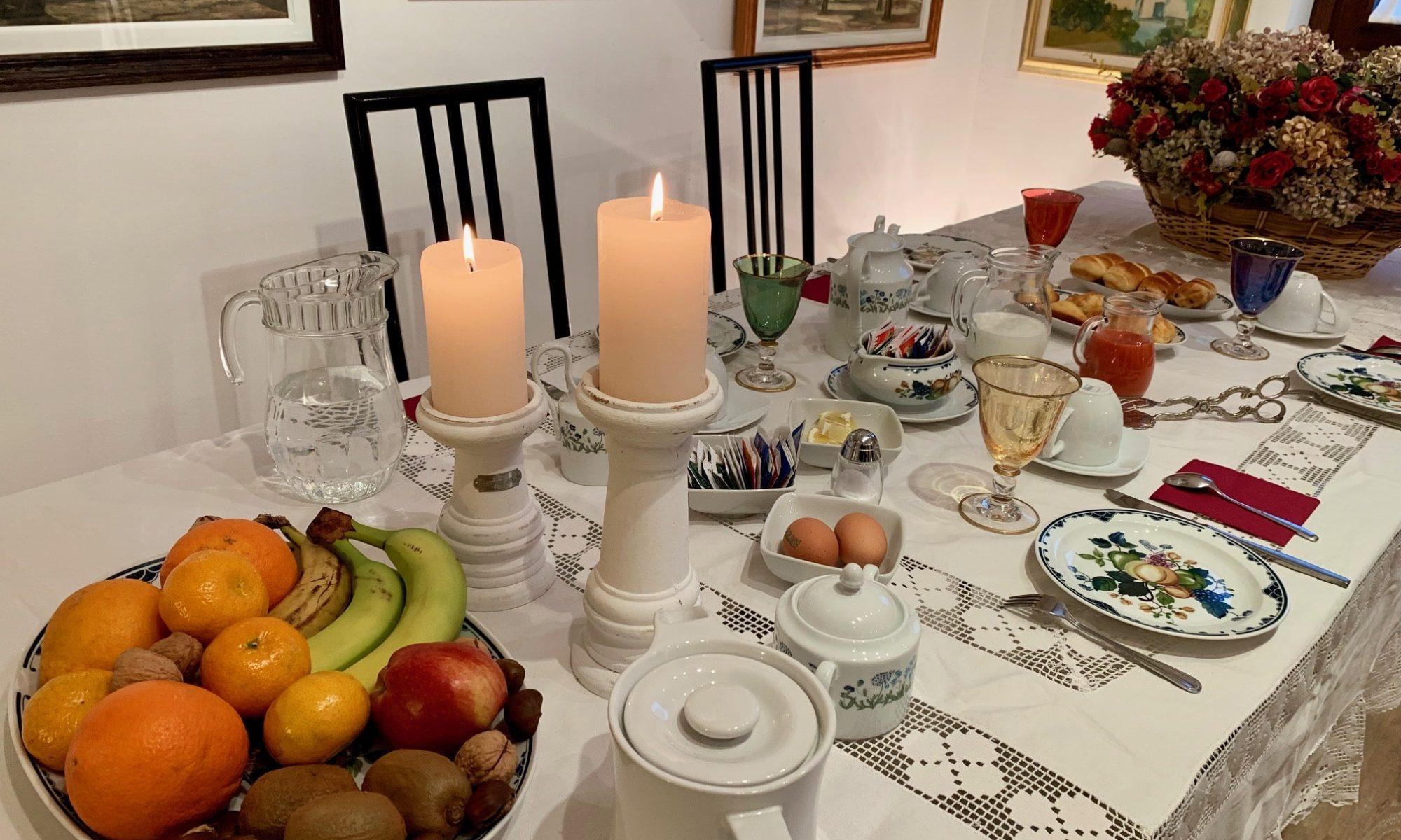 Rana B&B colazione breakfast allestimento